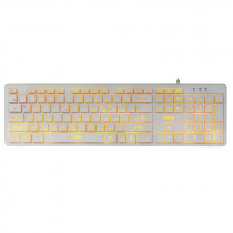 Клавиатура проводная Dialog Katana KK-ML17U, подсветка, мультимедиа, USB, белый