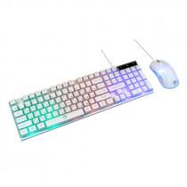 Игровой набор Nakatomi Gaming KMG-2305U, мышь+клавиатура, белый