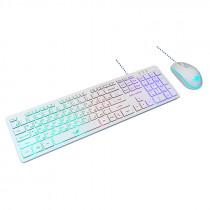 Игровой набор Dialog Gan-Kata KMGK-1707U, мышь+клавиатура, белый