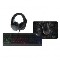 Игровой набор Smartbuy Rush Hypnos, мышь+клавиатура+гарнитура+коврик, чёрный
