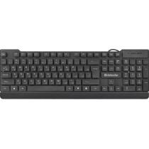 Клавиатура проводная Defender Element HB-190 USB RU, полноразмерная, чёрный