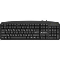 Клавиатура проводная Defender Office HB-910 USB RU, полноразмерная, чёрный