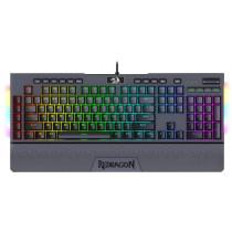 Клавиатура проводная механическая игровая Redragon Brahma Pro RU, RGB, Optical switches