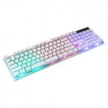 Клавиатура проводная игровая Nakatomi KG-23U, RGB подсветка, USB, белый