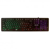 Клавиатура проводная игровая Dialog Gan-Kata KGK-17U, RGB подсветка, USB, чёрный