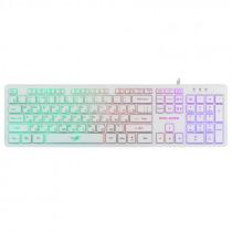 Клавиатура проводная игровая Dialog Gan-Kata KGK-17U, RGB подсветка, USB, белый