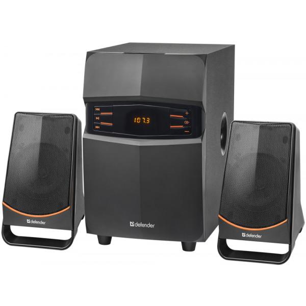 Акустическая 2.1 система Defender X181 18 Вт, Bluetooth/FM/MP3/SD/USB/LED/RC