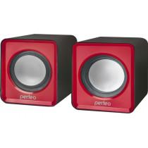 PF-128-R Perfeo Колонки WAVE 2.0, мощность 2х3 Вт (RMS), красный, USB