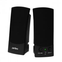 PF-210 Perfeo Колонки UNO 2.0, мощность 2х3 Вт (RMS), черн, USB (24)
