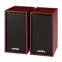 "PF-84 Perfeo Колонки ""Cabinet"" 2.0, мощность 2*3 Вт (RMS), махагон, USB (10)"