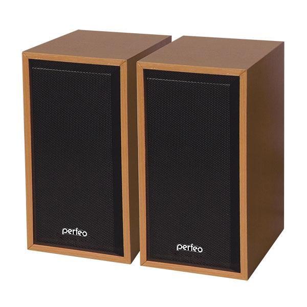 """PF-84 Perfeo Колонки """"Cabinet"""" 2.0, мощность 2*3 Вт (RMS), бук дерево, USB"""