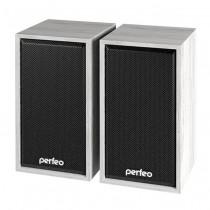 """PF-84 Perfeo Колонки """"Cabinet"""" 2.0, мощность 2*3 Вт (RMS), белый дуб, USB"""