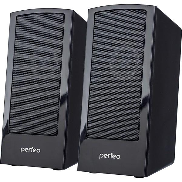 """PF_A4426 Perfeo Колонки """"CALIBR"""" 2.0, мощность 2*3 Вт, чёрный, USB"""