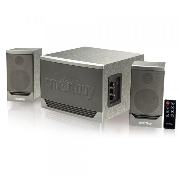 SBS-520 Акустическая система 2.1 SmartBuy GOLIATH, 50Вт, Bluetooth, MP3, FM, ПДУ, серый