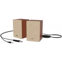 Акустические колонки Ritmix SP-2054w Brown-Beige  2*3W, USB, AUX.