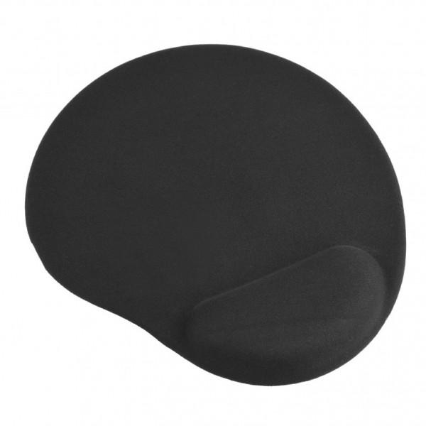 Коврик для мыши VS гелевый VS_4206, (200*235*3 мм), ткань+резиновое основание, чёрный
