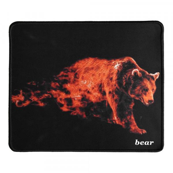 Коврик для мыши H8 Пылающий медведь, 250x290 мм