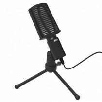 Микрофон RDM-125 Ritmix конденсаторный, на штативе-подставке, 3.5 Jack, кабель 1,8м, чёрный