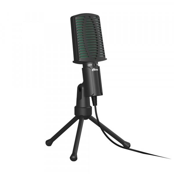 Микрофон RDM-126 Ritmix конденсаторный, на штативе-подставке, 3.5 Jack, кабель 1,8м, чёрно-зелёный