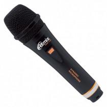 Микрофон для караоке RDM-131 чёрный, пластик, кабель 3м, Ritmix