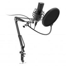 Микрофон RDM-180 Ritmix конденсаторный, стойка-пантограф со струбциной, USB, кабель 2,9м, чёрный