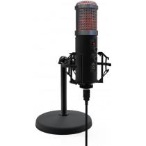 Микрофон RDM-260 Ritmix настольный, штатив-подставка, RGB, USB, 1,8м, чёрный