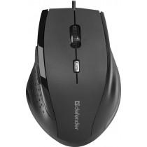 Мышь проводная Defender Accura MM-362, оптическая, 6 кнопок, 800-1600 dpi, чёрный