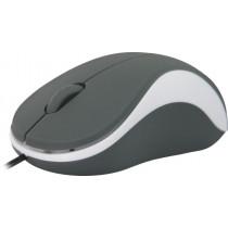 Мышь проводная Defender Accura MS-970, оптическая, 3 кнопки, 1000 dpi, серый+белый