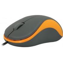 Мышь проводная Defender Accura MS-970, оптическая, 3 кнопки, 1000 dpi, серый+оранжевый
