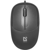 Мышь проводная Defender Datum MS-980 чёрный, оптическая, 3 кнопки, 1000 dpi