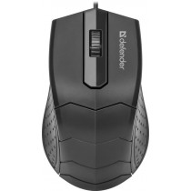 Мышь проводная Defender HIT MB-530, оптическая, 3 кнопки, 1000 dpi, чёрный