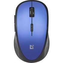 Мышь беспроводная Defender Aero MM-755 6D, оптическая, 6 кнопок, 1600 dpi, бесшумная, синий