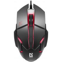 Мышь проводная Defender Host MB-982, оптическая, 7 цветов, 3 кнопки, 1000 dpi, чёрный
