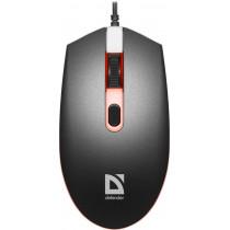 Мышь проводная Defender Dot MB-986, оптическая, 7 цветов, 4D, 4 кнопки, 1000-1600 dpi, чёрный