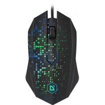 Мышь проводная Defender Event MB-754, оптическая, 7 цветов, 3 кнопки, 1000 dpi, чёрный