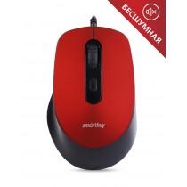 Мышь проводная Smartbuy ONE SBM-265-R, беззвучная, красный