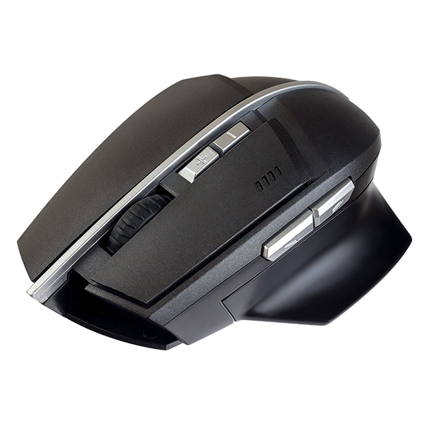 Мышь беспроводная Perfeo CONCEPT, оптич., 7 кн, USB, 800-1600 dpi, Game Design, чёрная