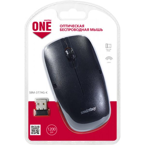 Мышь беспроводная Smartbuy ONE SBM-377AG-K чёрная