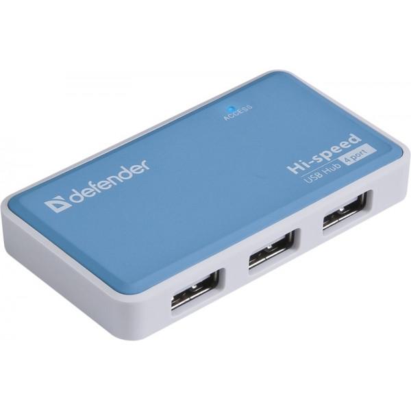 USB-хаб 4-порта Quadro Power USB2.0, блок питания 2A, Defender