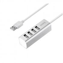 USB-хаб 4 порта, серебристый, Hoco HB1