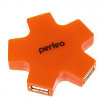 USB-хаб 4 порта PF-HYD-6098H Perfeo оранжевый