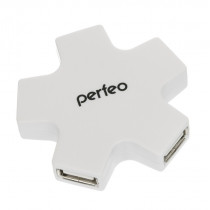 USB-хаб 4 порта PF-HYD-6098H Perfeo белый