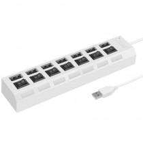 USB-хаб 7 портов SBHA-7207-W SmartBuy, с кнопками вкл/выкл, белый