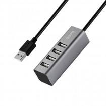 USB-хаб 4 порта, серый, Hoco HB1