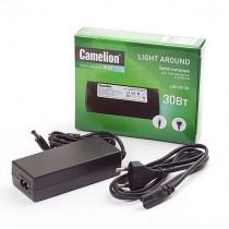 Блок питания Camelion LDP-02-30 для LED устройств и лент, 30Вт, IP20