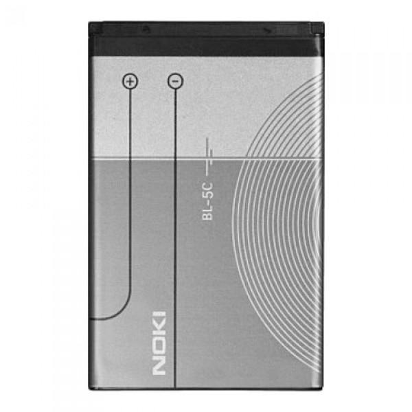 АКБ Nokia (BL-5C) 100/105/1208/1600/1650/2300/3120/6300/6670 (1020 mAh), EURO (тех. уп.)