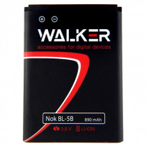 АКБ Nokia (BL-5B) 3220/3230/5140/5200/5300/6020/6070/6080/6120/7260/N80/N90 (890 mAh), WALKER