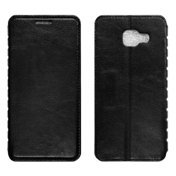 Samsung A7 (A710) Чехол-книжка чёрный
