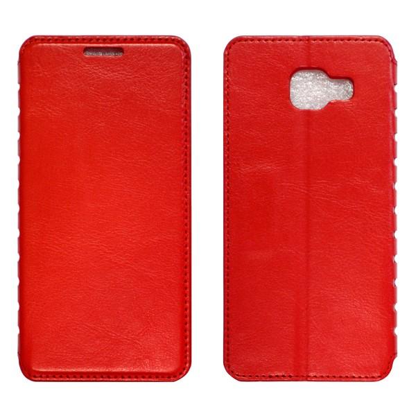 Samsung A7 (A710) Чехол-книжка красный