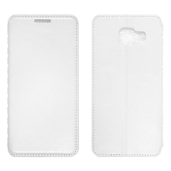 Samsung A7 (A710) Чехол-книжка белый